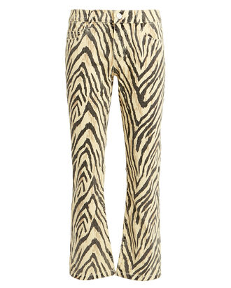 The Ruby Zebra Crop Jeans, YELLOW/ZEBRA, hi-res