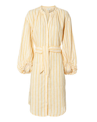 Beatrissa Striped Shirtdress, YELLOW, hi-res
