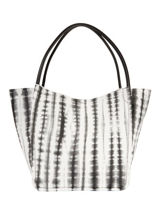 Tie-Dyed Tote, BLK/WHT, hi-res