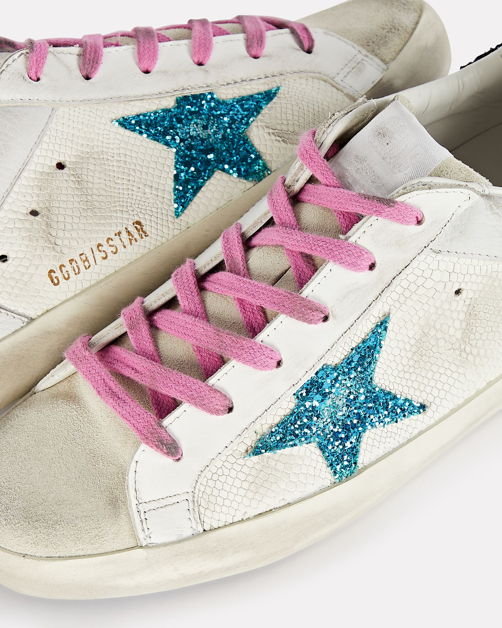 Superstar Embossed Leather Low-Top Sneakers, WHITE, hi-res