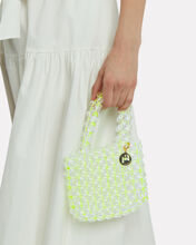 Keith Beaded Clutch, NEON/CLEAR, hi-res