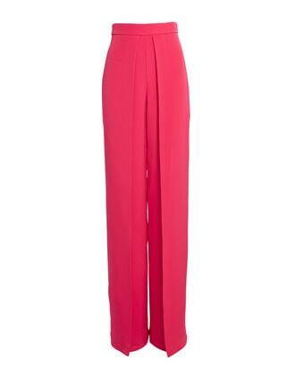 Silk Wide Leg Pants, ELECTRIC PINK, hi-res