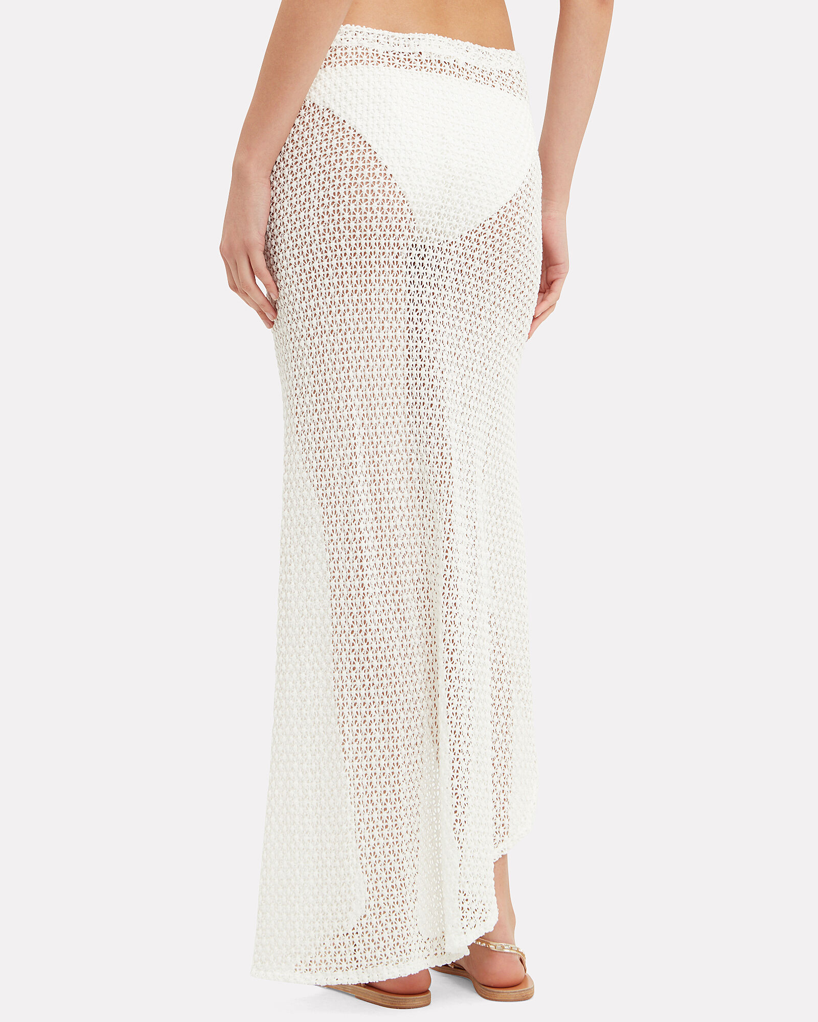 Isla Coverup Maxi Skirt, WHITE, hi-res