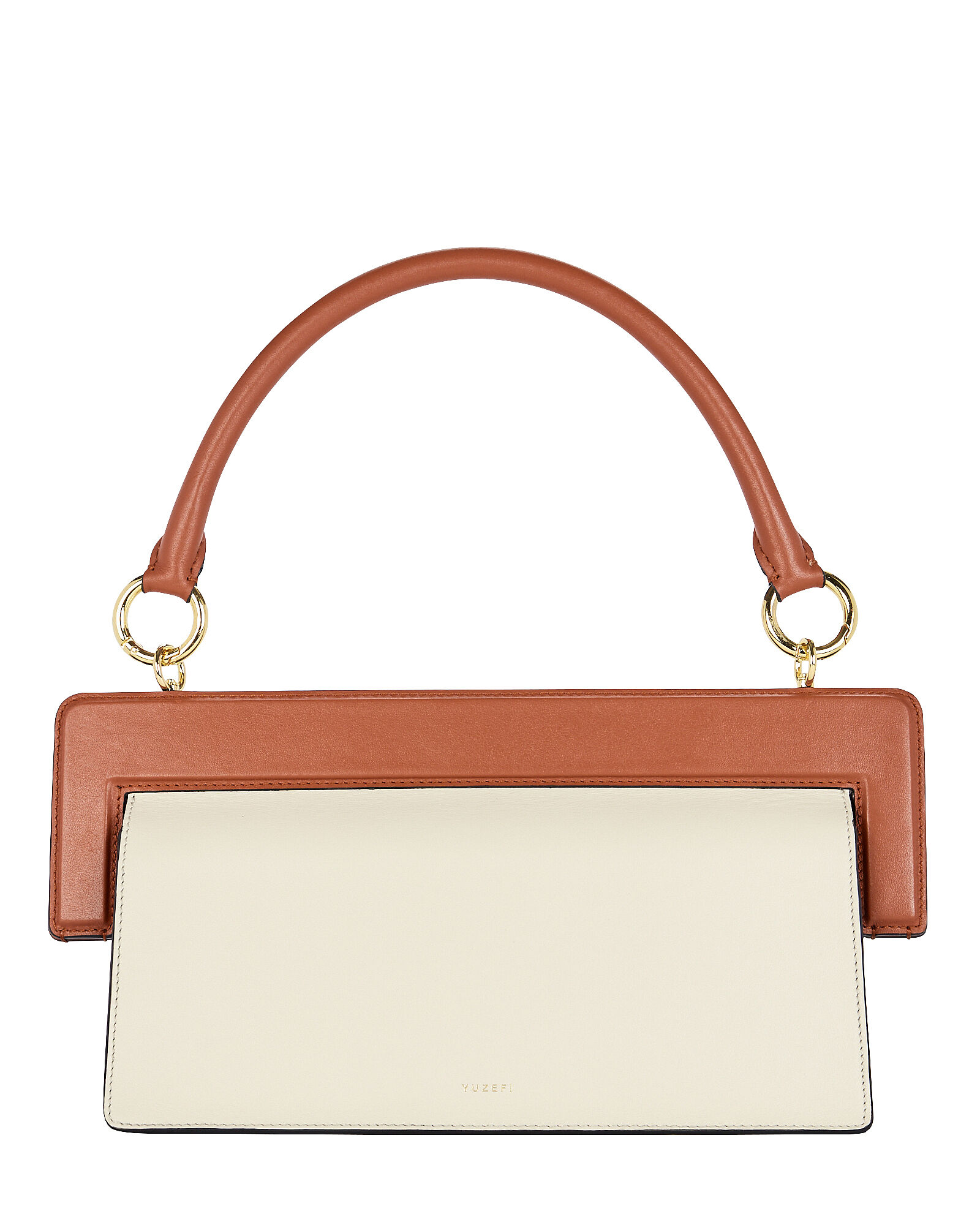 Ada Colorblock Leather Shoulder Bag, CAMEL/IVORY, hi-res