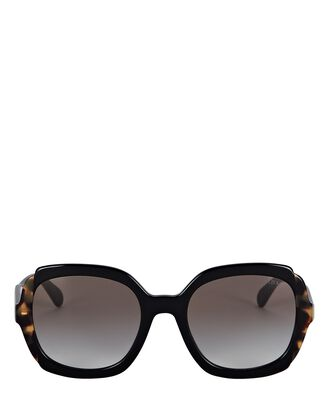 Oversized Round Sunglasses, BLACK, hi-res