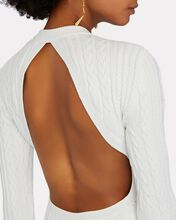 Eire Open Back Cable Knit Dress, WHITE, hi-res