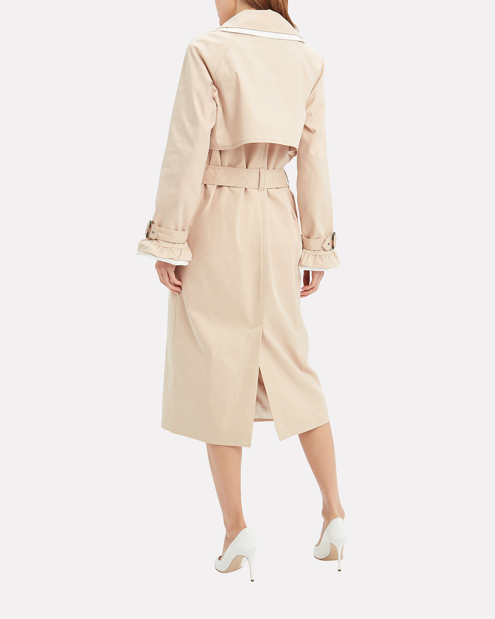 Kassidy Trench Coat, BEIGE/WHITE, hi-res