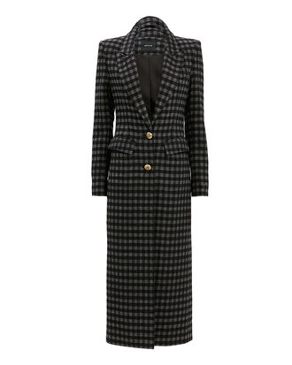 Brando Plaid Coat, BLACK AND GREY CHECK, hi-res