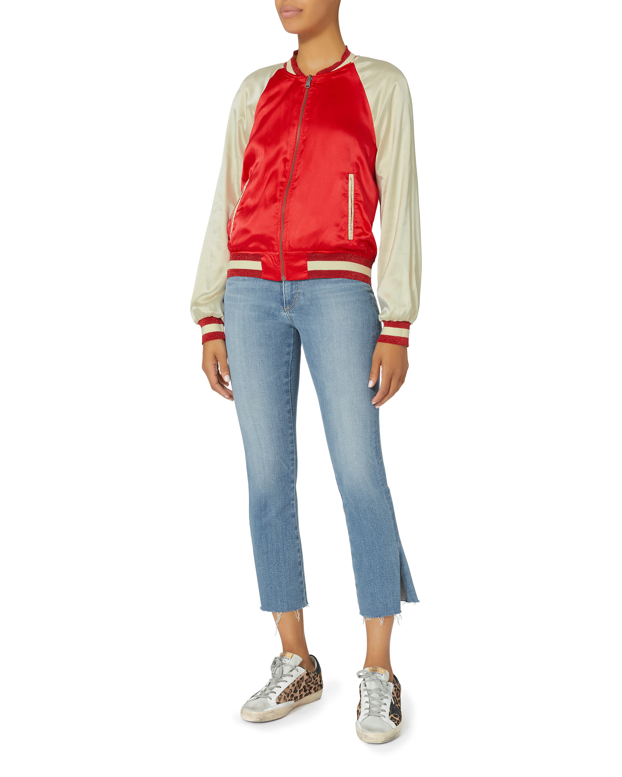 Colorblock Red Reversible Track Jacket, RED-DRK, hi-res