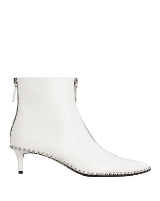 Eri Studded Booties, WHITE, hi-res