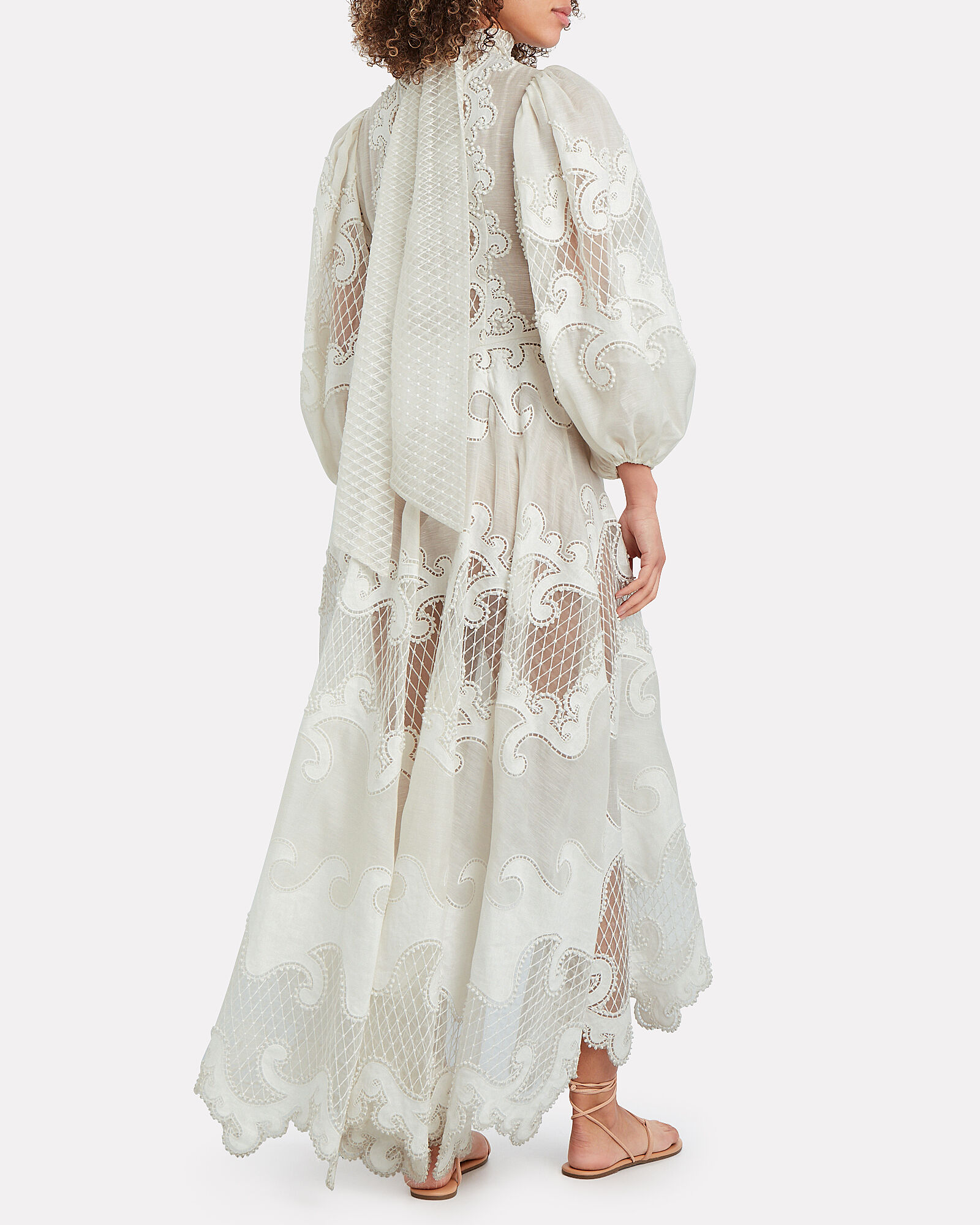 Brightside Embroidered Maxi Dress, IVORY, hi-res
