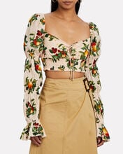 Ada Printed Crop Top, BLUSH, hi-res