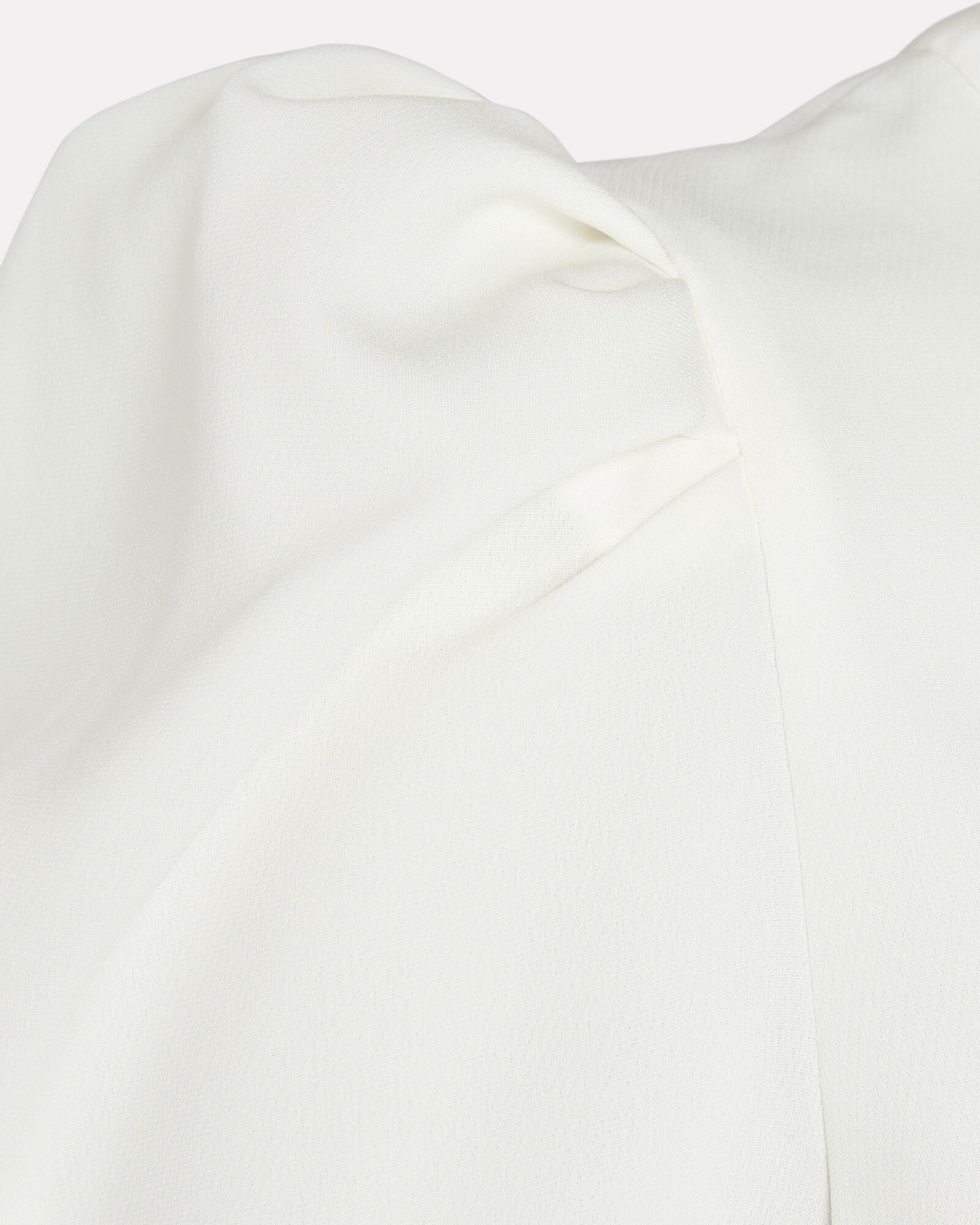 West Puff Sleeve Crepe Top, WHITE, hi-res