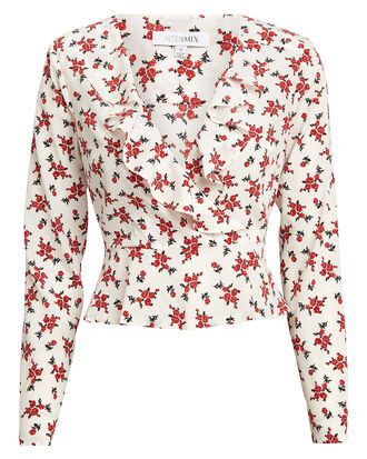 Evonne Floral Top, MULTI, hi-res