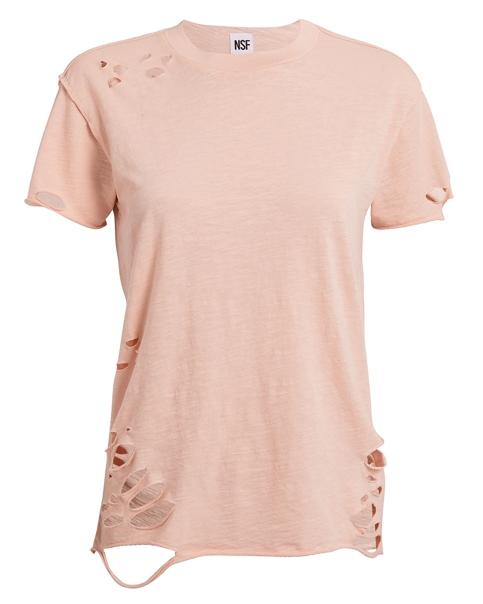 Moore Distressed T-Shirt, LIGHT PINK, hi-res