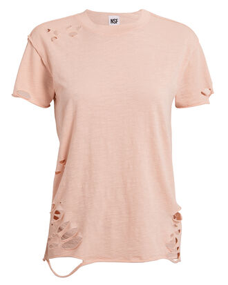 Moore Distressed Pink T-Shirt, PINK, hi-res