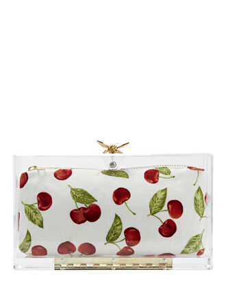 Busy Bee Acrylic Clutch, PRINT, hi-res