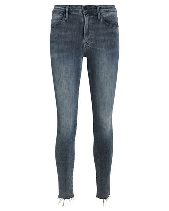Le High Raw Edge Skinny Jeans, MID-BLUE DENIM, hi-res