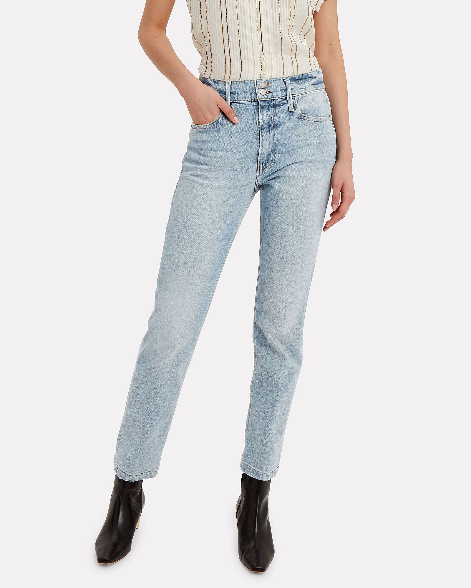 Le Sylvie Slender Jeans, LIGHT WASH DENIM, hi-res