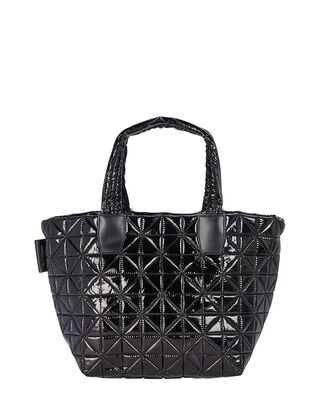 Vee Small Quilted Tote Bag, BLACK, hi-res