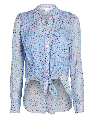 Dazed Silk Floral Button-Down Shirt, , hi-res