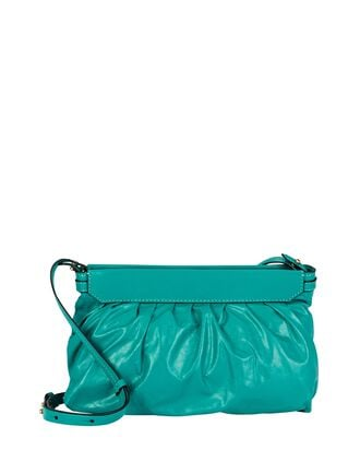 Luzes Soft Leather Crossbody Pouch, EMERALD, hi-res