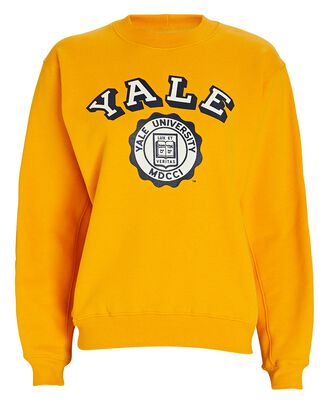 Yale Cotton Sweatshirt, YELLOW, hi-res