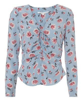 Daisy Blouse, BLUE-LT, hi-res
