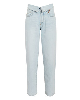 Flip Straight Leg Jeans, LIGHT BLUE DENIM, hi-res