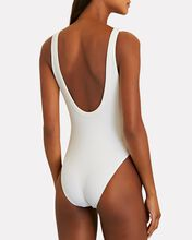 Amber Ribbed One-Piece Swimsuit, WHITE, hi-res