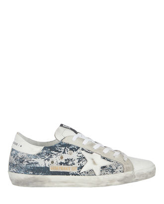 Superstar Low-Top Jacquard Sneakers, NAVY, hi-res