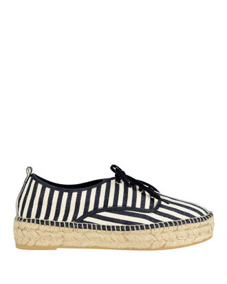 Alfie Espadrille Striped Platform Sneakers, WHITE, hi-res