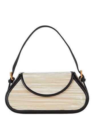 Uma Velvet Shoulder Bag, IVORY, hi-res