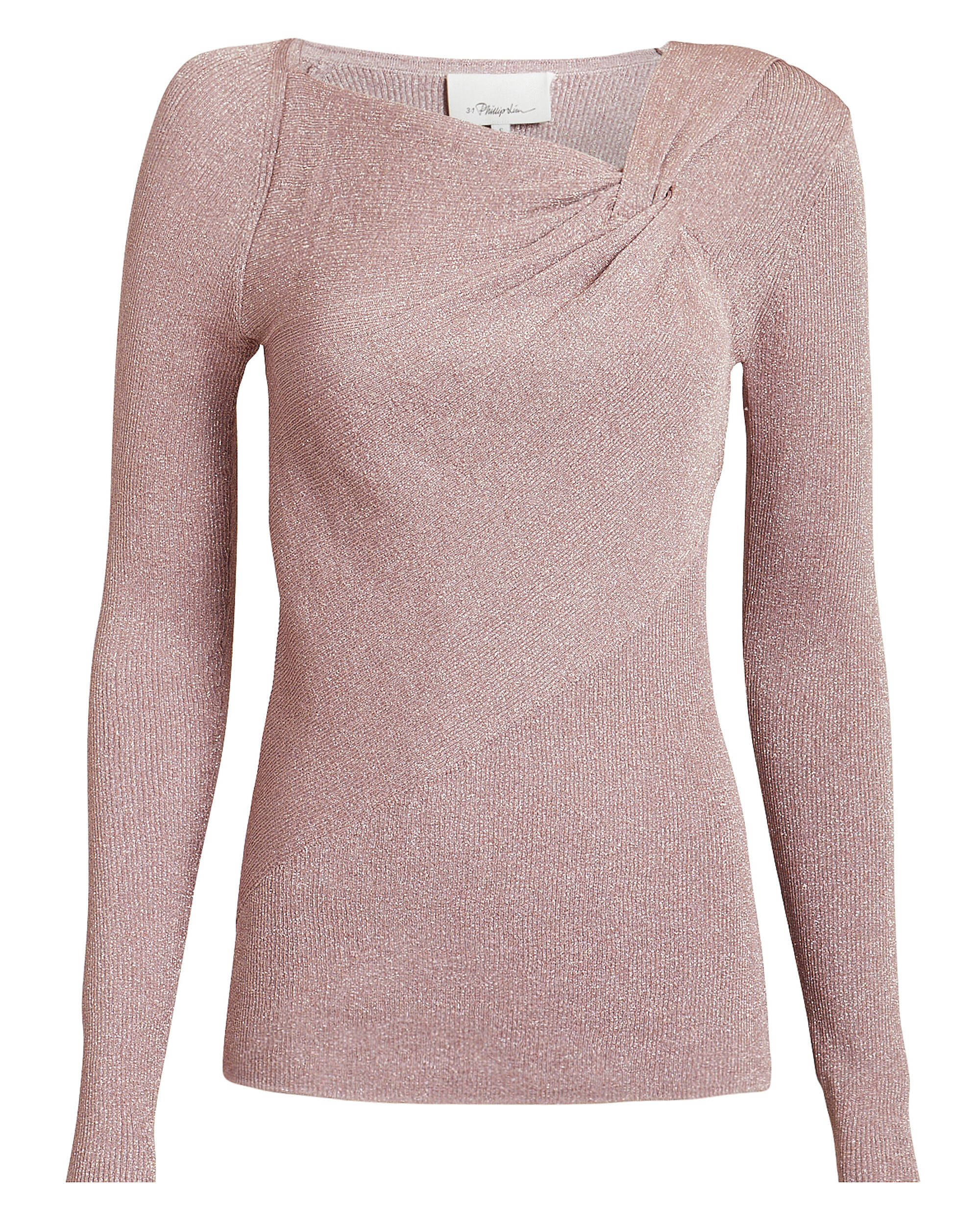 Lurex Twisted Pullover, BLUSH, hi-res