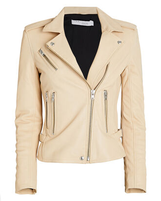 Newhan Leather Biker Jacket, , hi-res