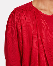 Monet Draped Moiré Blouse, RUBY, hi-res