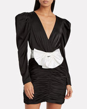 Margo Satin Mini Dress, BLACK, hi-res