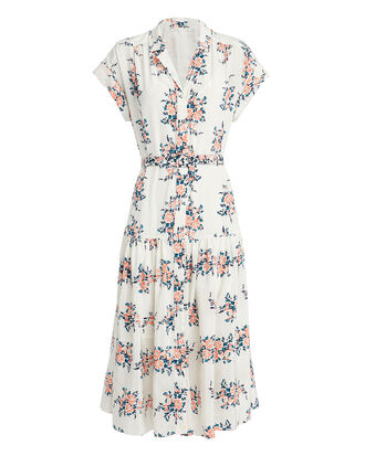 Megan Gardenia Midi Dress, WHITE/FLORAL, hi-res