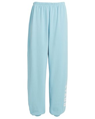 Logo Cotton Terry Sweatpants, LIGHT BLUE, hi-res