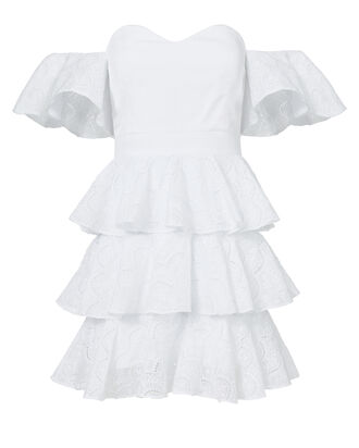 Irene Mini Ruffle Dress, WHITE 2, hi-res