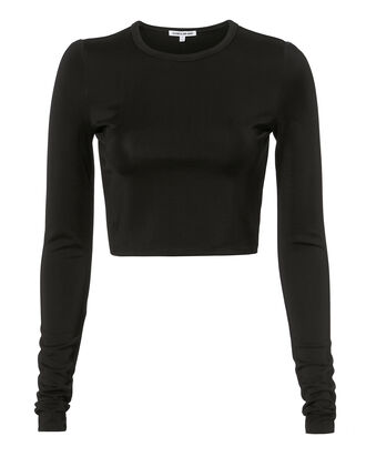 Desmond Black Cropped Top, BLACK, hi-res