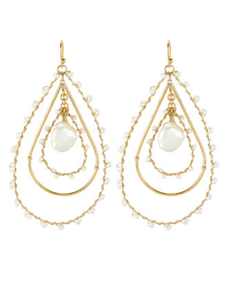 Bo Orphee Beaded Drop Earrings, GOLD/PEARL, hi-res