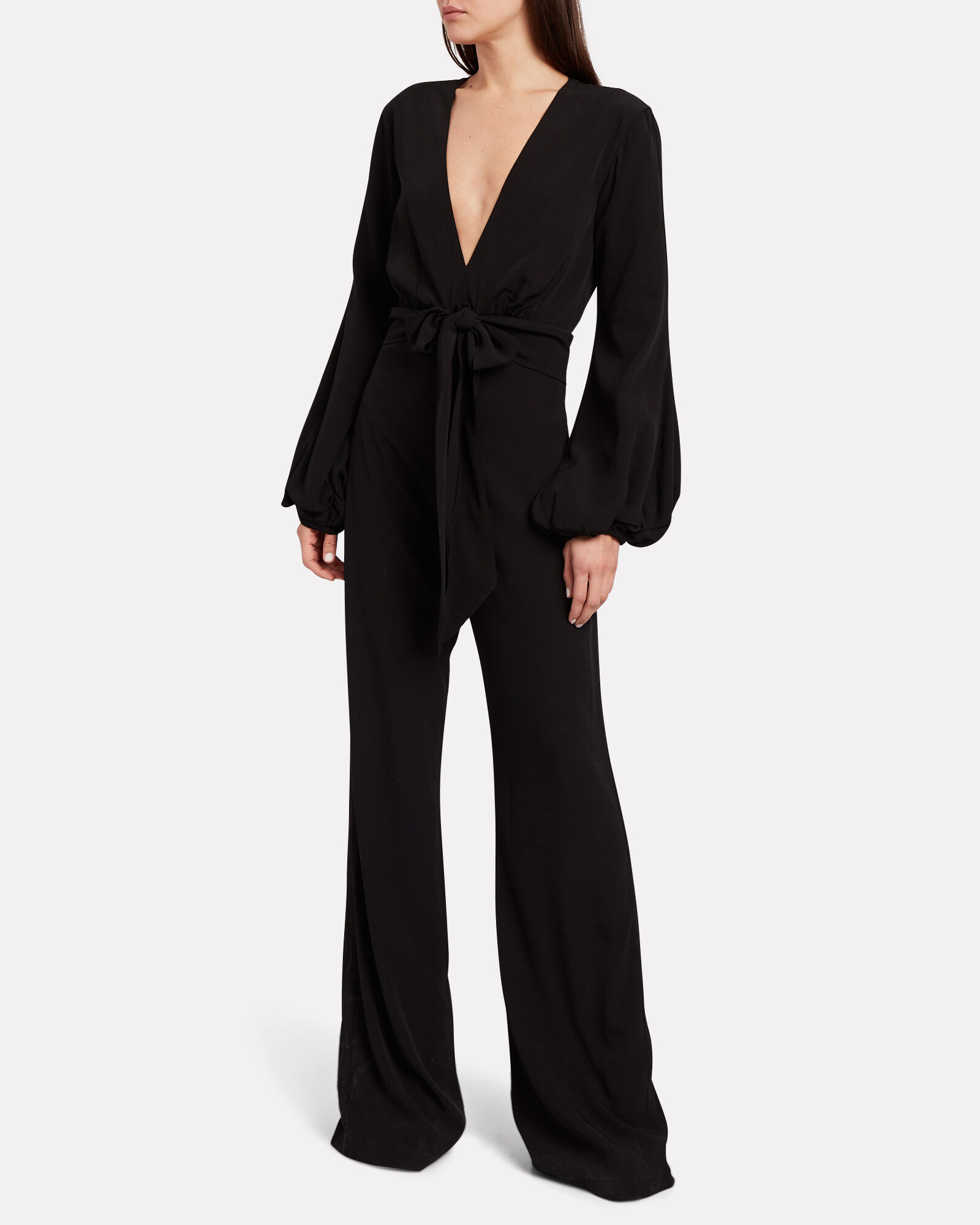 Faith Crepe Wide-Leg Jumpsuit, BLACK, hi-res