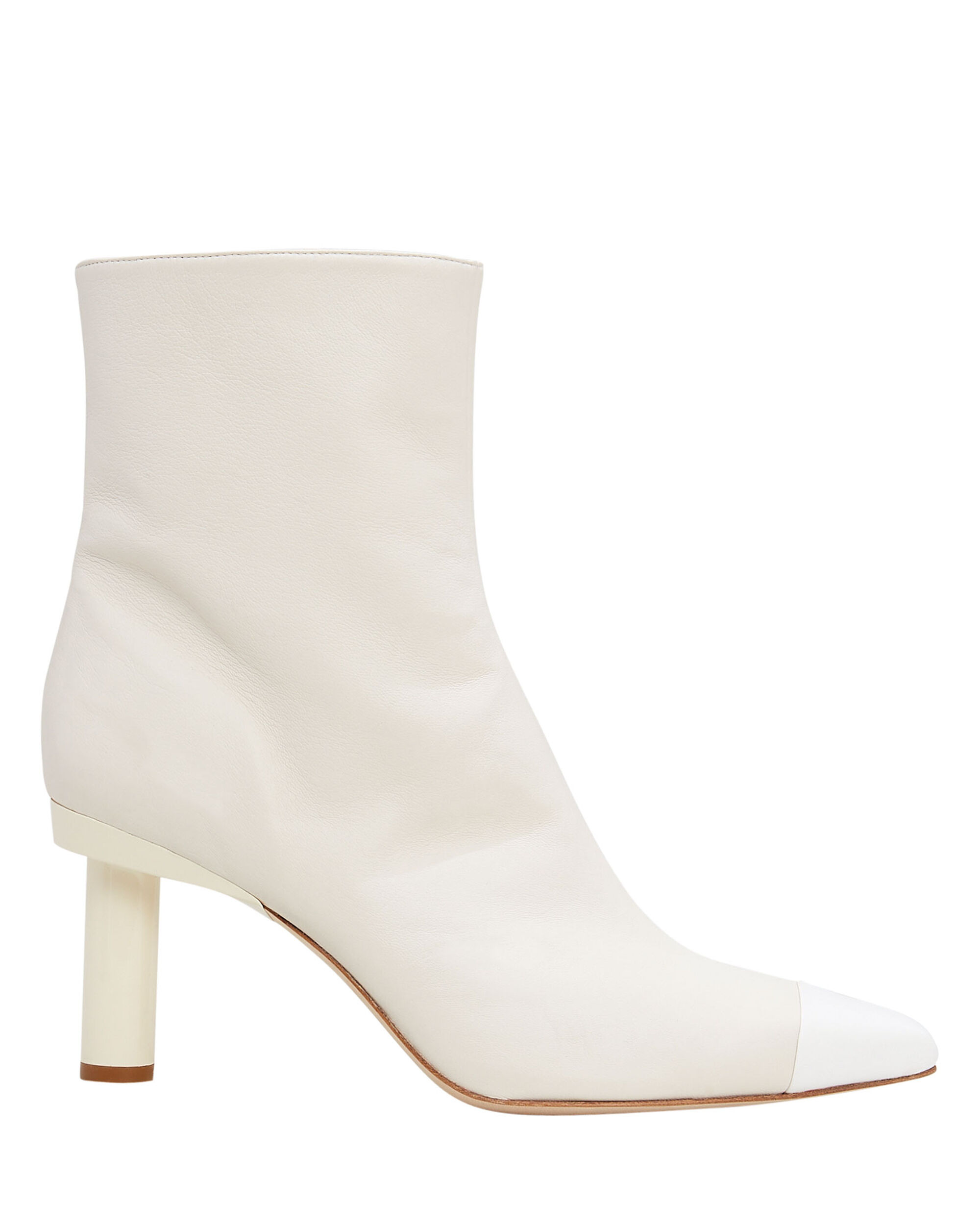 Grant Ivory Leather Booties, IVORY/WHITE, hi-res