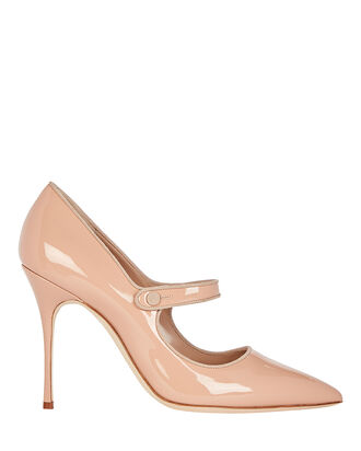Campari Patent Mary Jane Pumps, BEIGE, hi-res