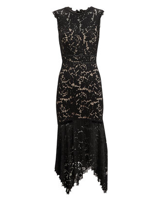 Marlee Lace Open Back Midi Dress, BLACK, hi-res