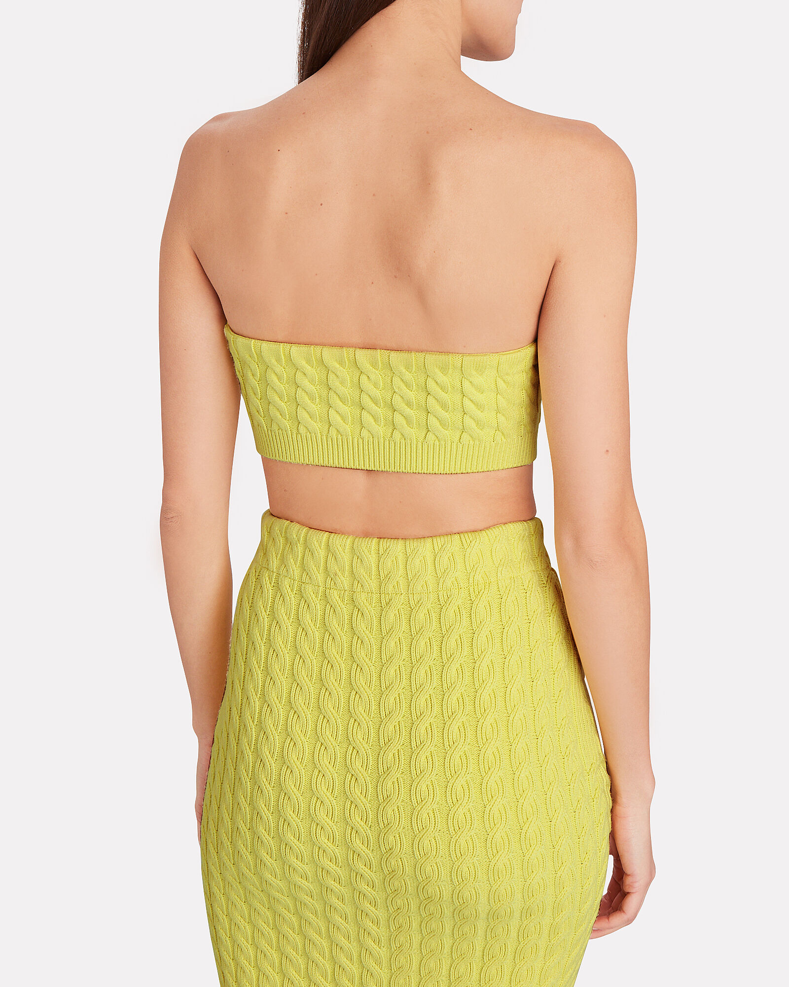 Umeko Cable Knit Bandeau, YELLOW, hi-res