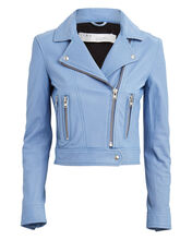 Hartley Leather Moto Jacket, BLUE-LT, hi-res