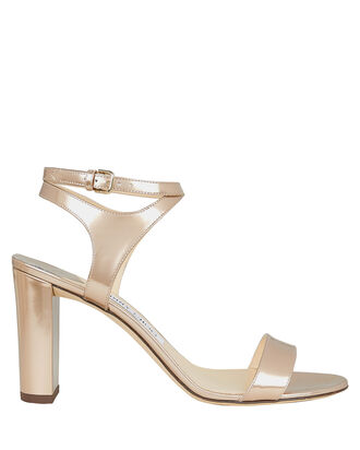 Marine Leather Sandals, ROSE METALLIC, hi-res