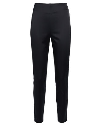 Arrow Satin Skinny Pants, BLACK, hi-res